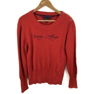 Tommy Hilfiger Spell Out Ribbed Sweater